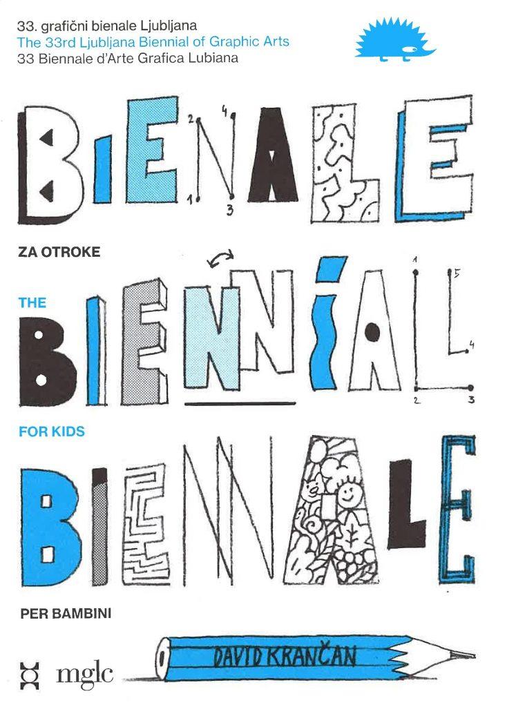 Bienalski zemljevid za otroke in družine z ilustracijami Davida Krančana